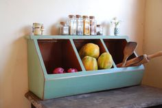 Storage Kitchen Storage Boxes Primitive by OldCountryGeneral, $59.95  I think I need this in my kitchen.