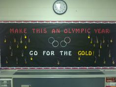 Olympic Year Bulletin Board Go for Gold