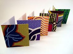 African wax print card set with envelopes x 6 by ChilliPeppa, £6.20