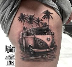 Vw Tattoo, Surf Tattoo, Car Tattoos, Foot Tattoos, Forearm Tattoos, Life Tattoos, Body Art Tattoos, Tatoos, Future Tattoos