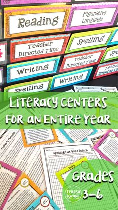 Literacy centers are a great way to keep students engaged during language arts time in your classroom. Teachers, this set has all the activities, worksheets, task cards, and instructions you will need for an entire year! Just print each month, and you are ready to go. Centers focus on, reading, writing, grammar, spelling, vocabulary, and more. These are monthly themed and help reinforce important literacy skills. Great for third, fourth, fifth, or sixth grade.