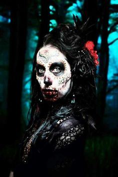 Bloody day of the dead girl