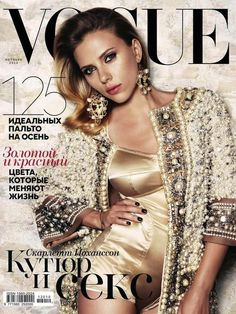 Scarlett Johansson on the Cover of Vogue Russia October 2012