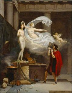 Pygmalion And Galatea Artwork By Louis Gauffier Oil Painting & Art Prints On Canvas For Sale Romantic Paintings, Old Paintings, Canvas Art Prints, Oil On Canvas, Statue Art, Manchester Art, City Gallery, Greek And Roman Mythology, Art Uk