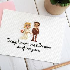 "174 Likes, 8 Comments - Custom Cross Stitch Portraits (@clothandtwig) on Instagram: """"I swear I couldn't love you more than I do right now, and yet I know I will tomorrow."" -Leo…"""