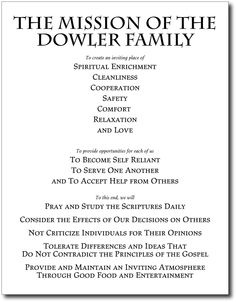 Family mission statement | It's how we have fun | Pinterest ...