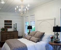 Vintage French Soul  ~   Bedroom HGTV  Fixer Upper Brick Cottage for Baylor Grads.