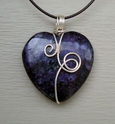 Purple Sugilite Heart