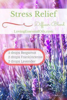 Stress Relief Essential Oil Diffuser Blend   Bergamot Oil   Frankincense Oil   Lavender Oil   Diffusing Aromatherapy Oils