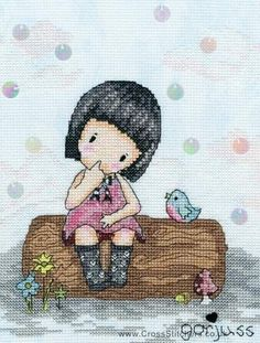Gorjuss - Bluebird's Proposal - Cross Stitch Kit from Bothy Threads