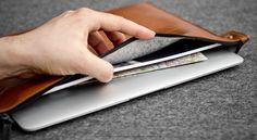 Apple Macbook folio by HANDWERS  #macbook #folio #leather #apple #case