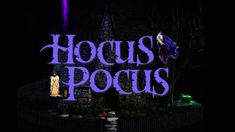 Hocus Pocus Inspired *Witches House* ASMR Ambience Projection Mapping, Halloween Movies, Hocus Pocus, Asmr, Witches, Neon Signs, Inspired, House, Autonomous Sensory Meridian Response