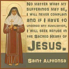 ~St. Alphonsa of India - July 28th