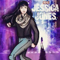Jessica Jones, Doodle, Netflix, Behance, Marvel, Anime, Instagram, Bass, Ink