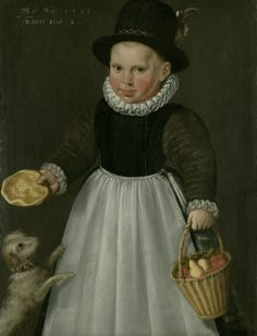 Two-Year-Old Boy Jacob Willemsz. Delff I, 1581 Panel, x cm Rijksmuseum, Amsterdam Renaissance Portraits, Renaissance Art, Renaissance Paintings, Renaissance Fashion, European Paintings, Old Paintings, Portrait Paintings, Old Boy, Dogs And Kids