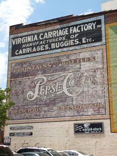 Old Pictures of Roanoke VA   old Pepsi-Cola building sign in Roanoke, Virginia