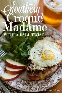 Southern Croque Madame with a Fall Twist. This sandwich is so delicious and surprisingly easy to make!!