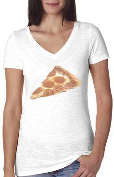 2d81289c190 Pizza Time V-neck Vintage Style Shirt