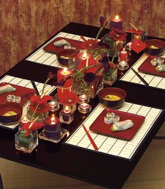 Gorgeous table setting for Japanese dinner!
