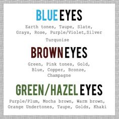 Eye shadow shades to compliment your eye colour