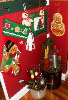 Christmas in the Kitchen, Christmas Home Tour 2015 Christmas Kitchen, Christmas Home, Welcome To Christmas, House Tours, Christmas Stockings, Gingerbread, Holiday Decor, Image Link, People