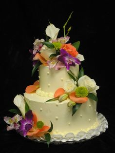Floral Wedding Cake | Freed's Bakery Las Vegas |