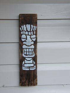 £5.00 Burnt wood Tiki Wall hanging art Burnt Wood, Drift Wood, Hanging Art, Wood Burning, Wood Art, Wall, Home Decor, Art On Wood, Wooden Art