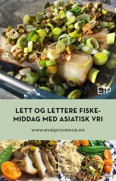 LETT OG LETTERE FISKEMIDDAG MED ASIATISK VRI Bon Appetit, Food And Drink, Beef, Fish, Dinner, Meat, Dining, Pisces, Food Dinners