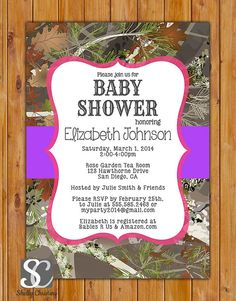 Hunting diy printable glitter camo baby shower invitations camouflage hunting girl baby shower invite pink purple party invitation 5x7 digital jpg file 162 filmwisefo