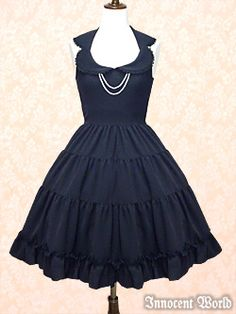 Innocent World  Tiered JSK with Pearls Navy or Black