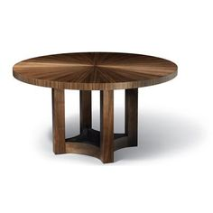 Nexus Round Extension Table w/2 leaves+Sunburst Top from Altura Furniture