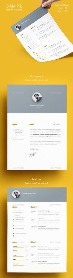 Simple Resume Template Simple, Simple resume template and Resume - simple cv template
