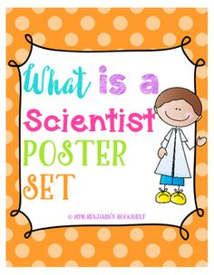 This science poster set will add zeal to your science lessons. This poster set… What Is A Scientist, What Is Science, Desk Calendars, Science Lessons, Cover Pages, Teacher, Ads, Poster, Desktop Calendars
