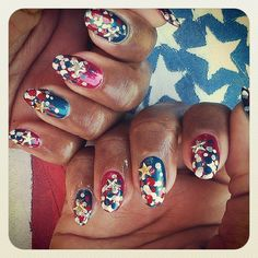 candikate's festive tips. Show us your 4th of July-inspired nails! Tag your pic #SephoraNailspotting to be featured on our social sites.