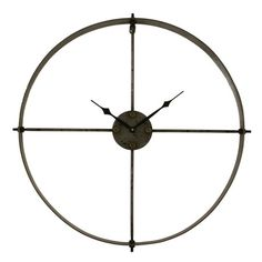 Create a striking vignette in your entryway, sitting room, or three-season porch with the minimalist Gail Wall Clock. Showcasing a simple metal design finish...