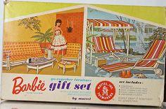 """Barbie, """"Go-together Furniture"""" gift set.. 1963"""