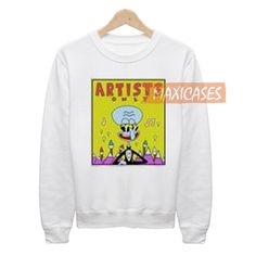 SpongeBob Artists Only Squidward Sweatshirt Sweater Unisex Adults size S to 2XL