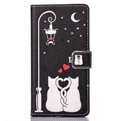Huawei P9 Lite Case,P9 Lite phone case, LYO [Card Slot] Stand Feature Magnetic Closure Premium PU Leather Wallet Folio Flip Case Protective Cover for Huawei P9 Lite[Not fit Huawei P9] [Love Cats]