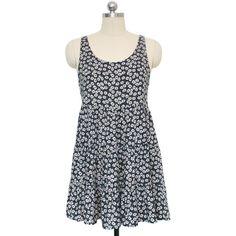 Flirty Floral Sundress ($36) ❤ liked on Polyvore featuring dresses, summer sundresses, floral sun dress, sundress dresses, floral printed dress en floral sundress