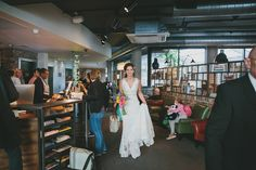 Bride wears a Lusan Mandongus Gown for a Village Underground Wedding   Photography by http://www.mckinley-rodgers.co.uk/
