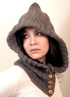 Through the Woods Knit Hood $100