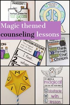This magic-themed elementary school counseling classroom guidance lesson bundle includes 15 fun, hands-on lessons to promote student growth! Cover topics such as friendship, emotions, kindness, anger, calming strategies, self esteem, and more! The lessons are intended for elementary-aged students (grade 3-5). Perfect for classroom guidance lessons or small group counseling #counselorkeri