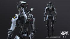 ArtStation - Robo Recall Biped Bots, Pete Hayes