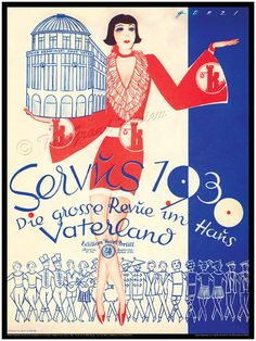 CABARET!!! Antique German Print - Cabaret in the Weimar Republic - Berlin 1929 1930 - Kempinski's Haus Vaterland