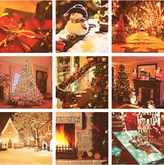 collage of christmas