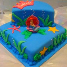 Ariel cake- A wants an Ariel theme....going to attempt something like this!