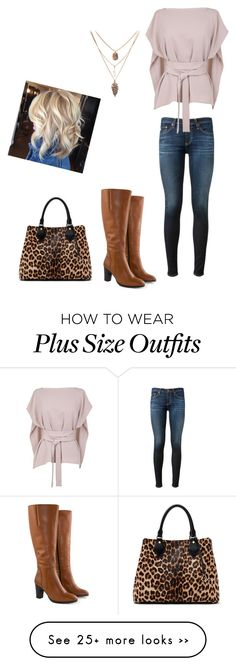 """""""Untitled #218"""" by csmjkk6 on Polyvore featuring AG Adriano Goldschmied, TIBI, Jilsen Quality Boots and Diane Von Furstenberg"""