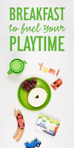 Fewer ingredients and better taste make this kid-friendly breakfast a wholesome start to the day, without all the distractions! is both good on a bagel, and on little fingers. Toddler Meals, Kids Meals, Cookbook Recipes, Kid Recipes, Taste Made, Breakfast Recipes, Breakfast Ideas, Few Ingredients, Favorite Recipes
