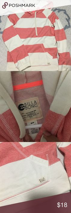 Red and white billabong sweater Billabong size medium sweater Billabong Tops Sweatshirts & Hoodies