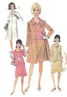 Women's Sewing Pattern 1960's Juniors' Suit by Sutlerssundries